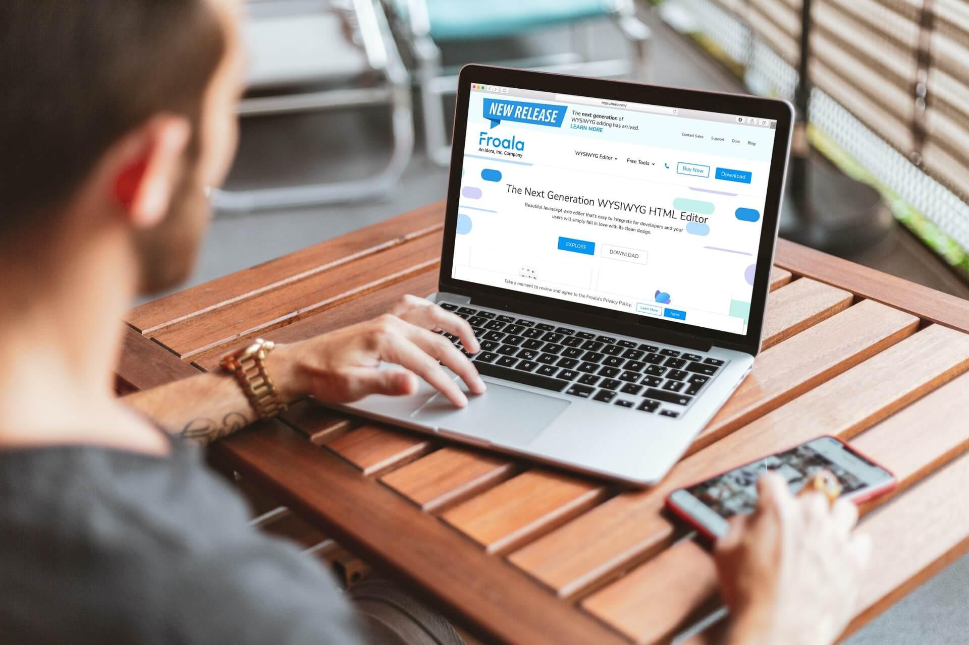 Choosing between Froala and ContentTools WYSWYG editor
